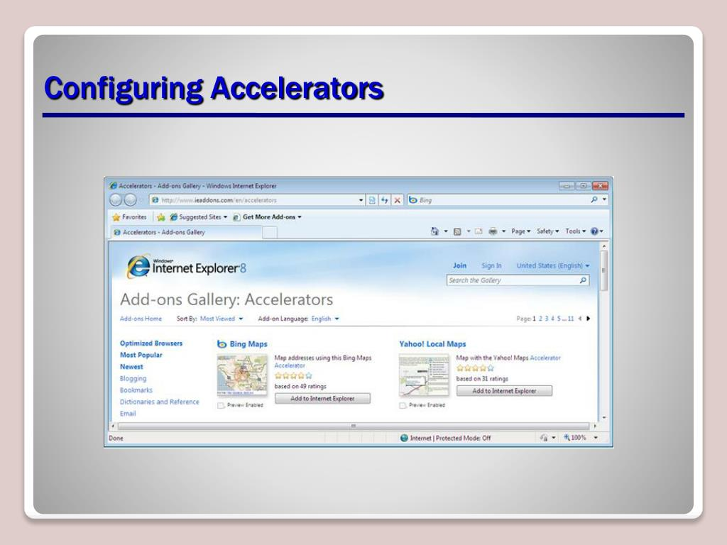 Configuring Accelerators