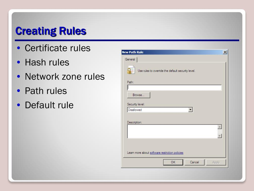 Creating Rules