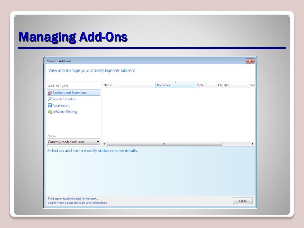 Managing Add-