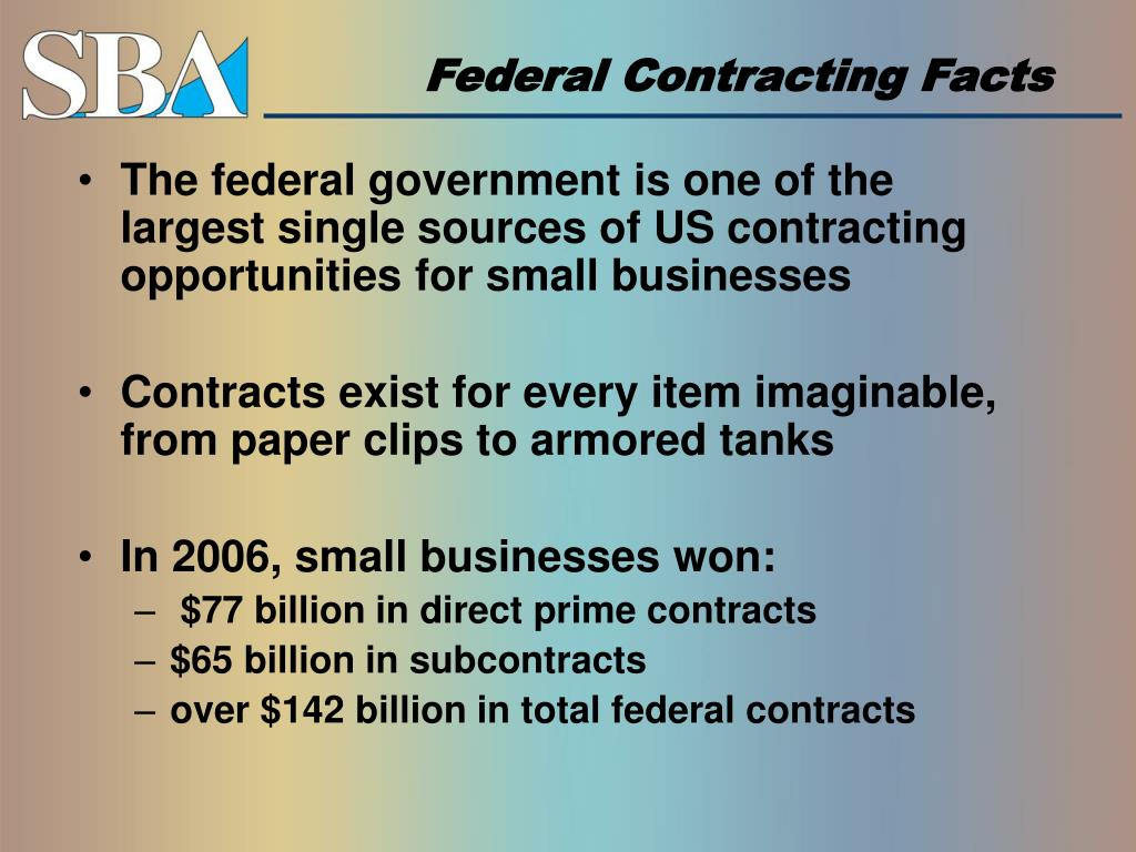 Federal Contracting Facts