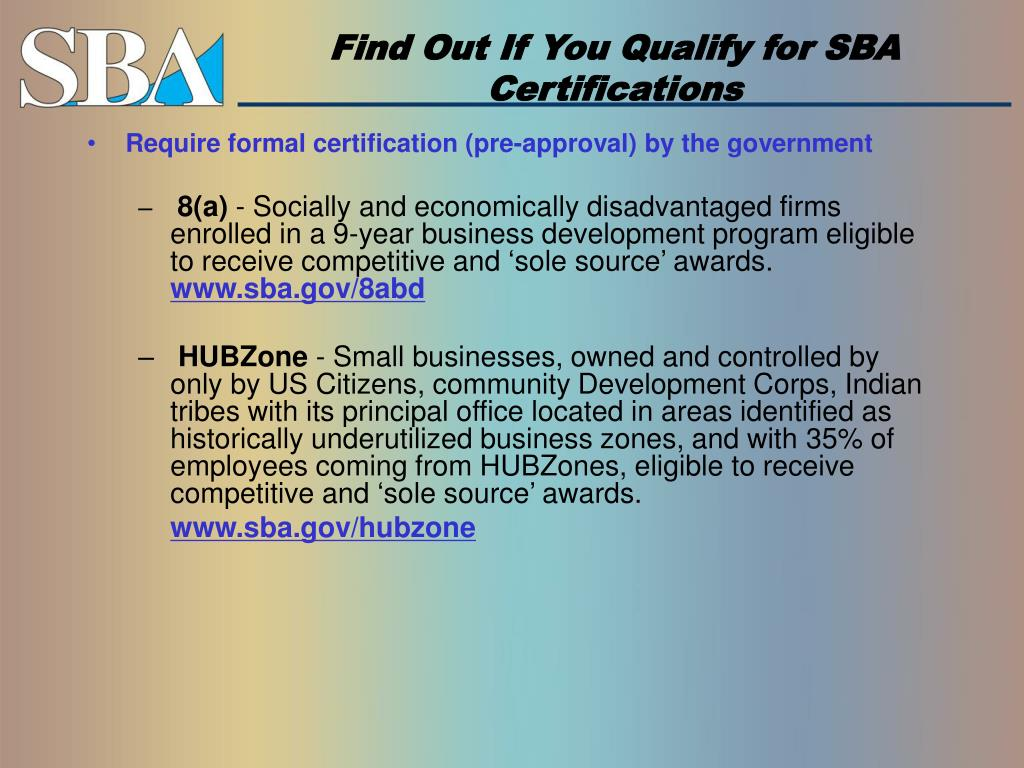Find Out If You Qualify for SBA Certifications