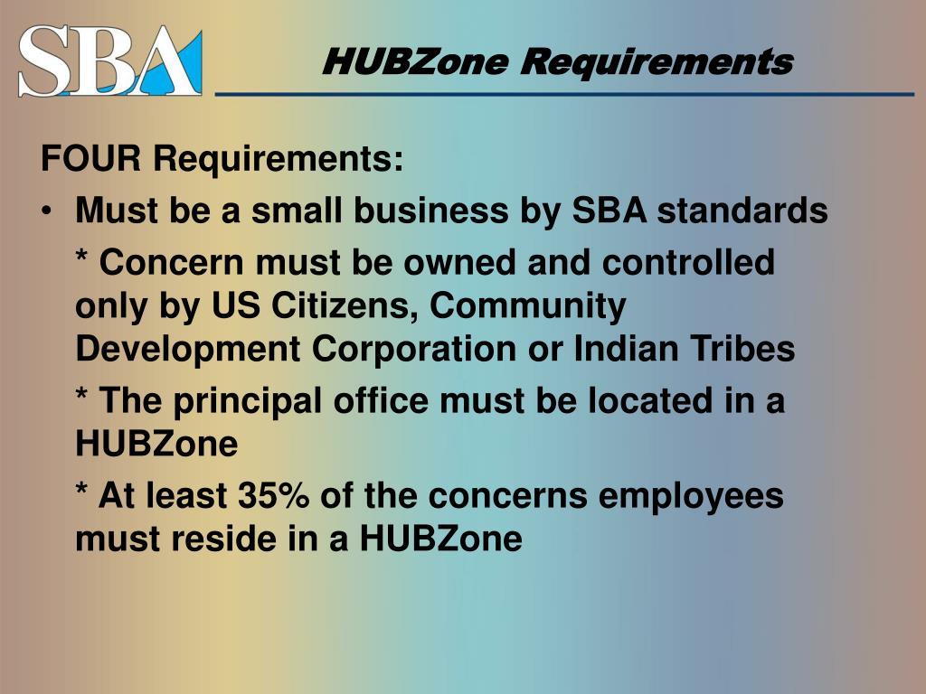 HUBZone Requirements