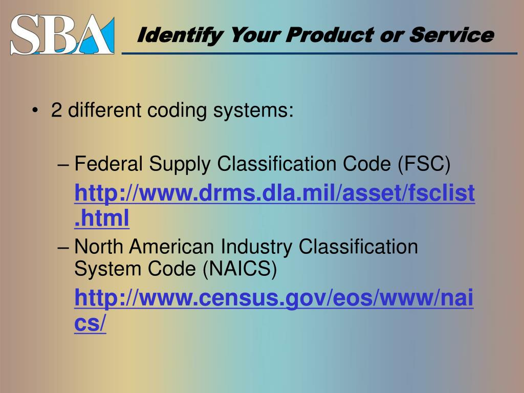 Identify Your Product or Service