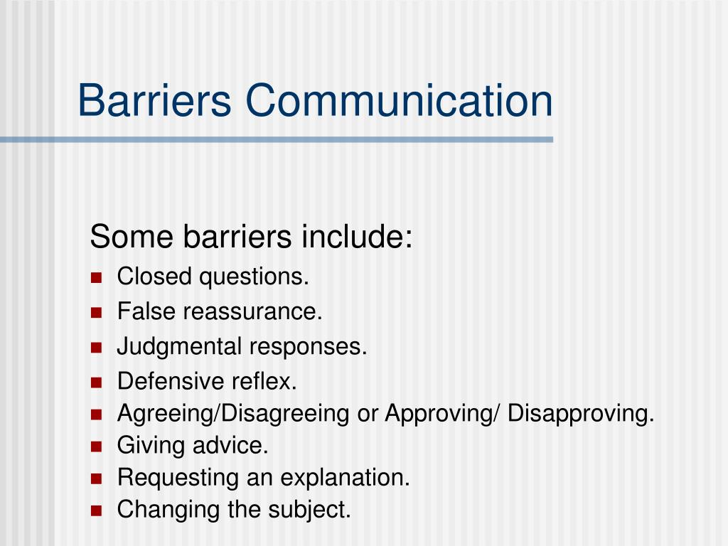 Barriers Communication