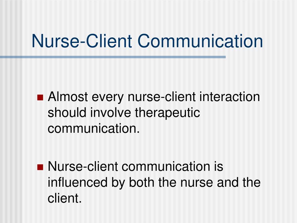 Nurse-Client Communication
