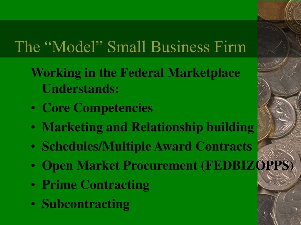 """The """"Model"""" Small Business Firm"""