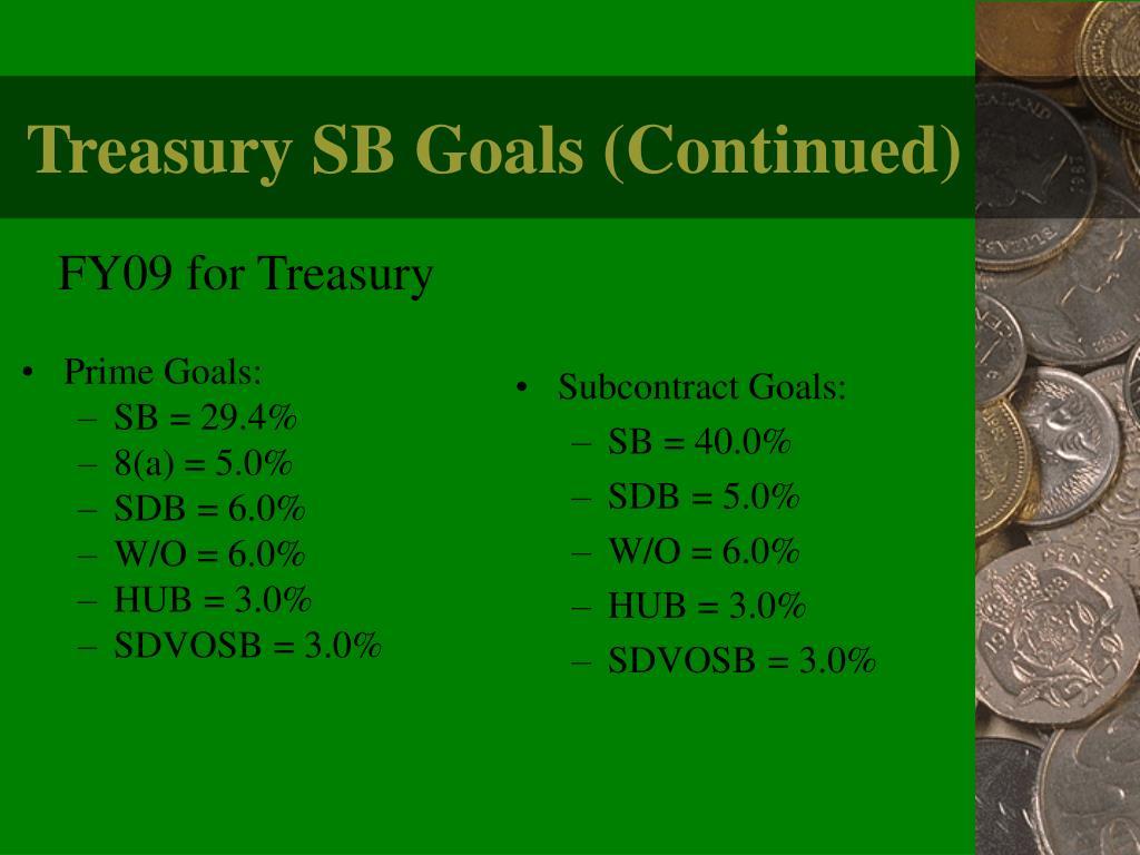 FY09 for Treasury