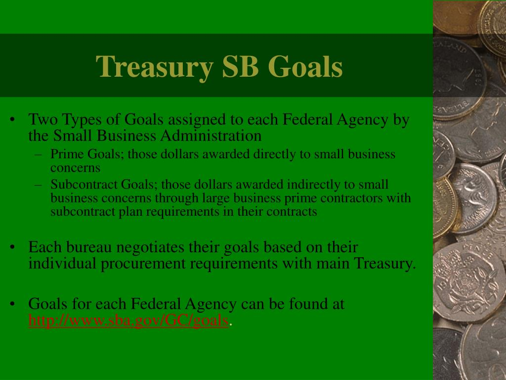 Treasury SB Goals