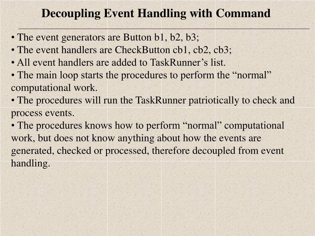 The event generators are Button b1, b2, b3;