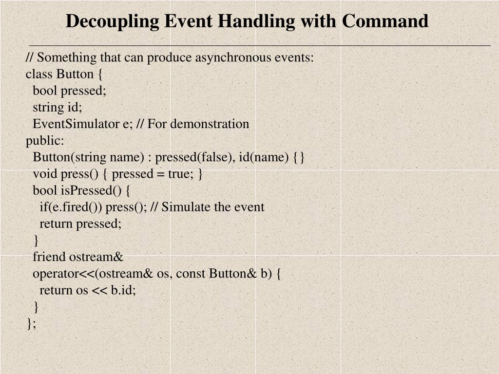 // Something that can produce asynchronous events: