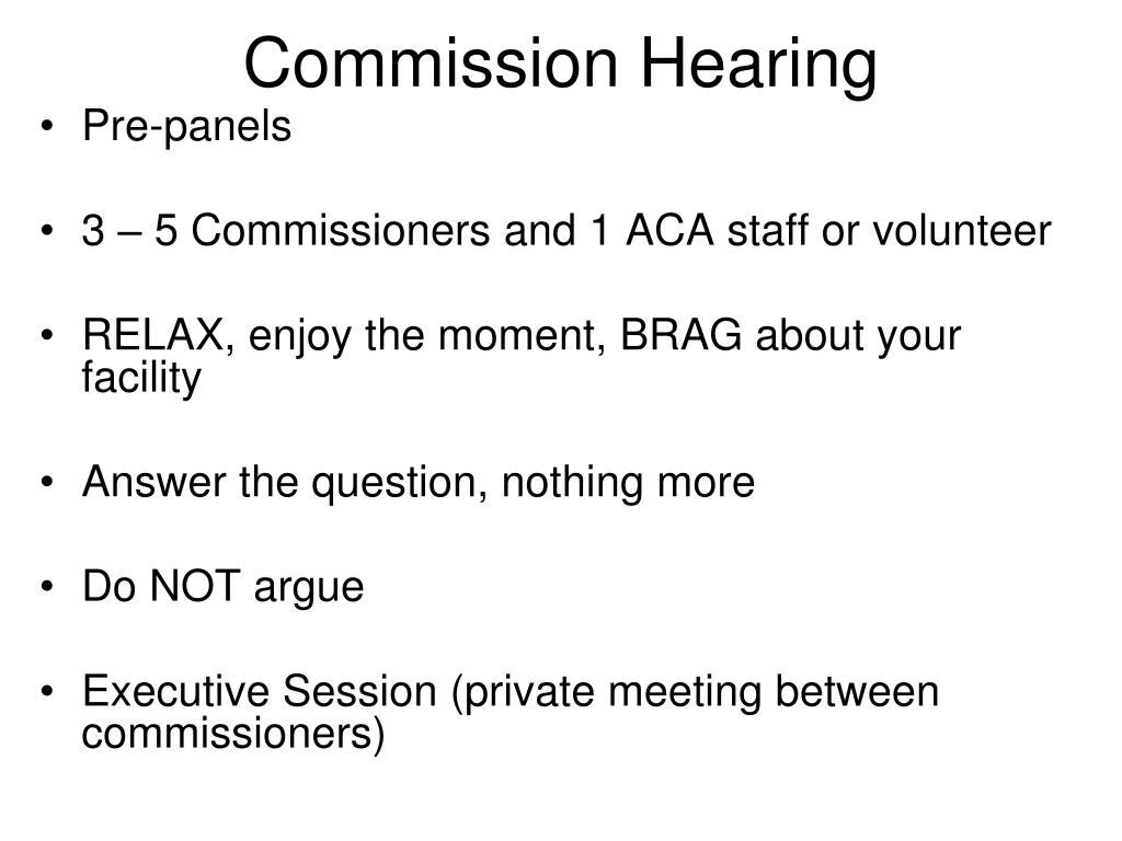 Commission Hearing