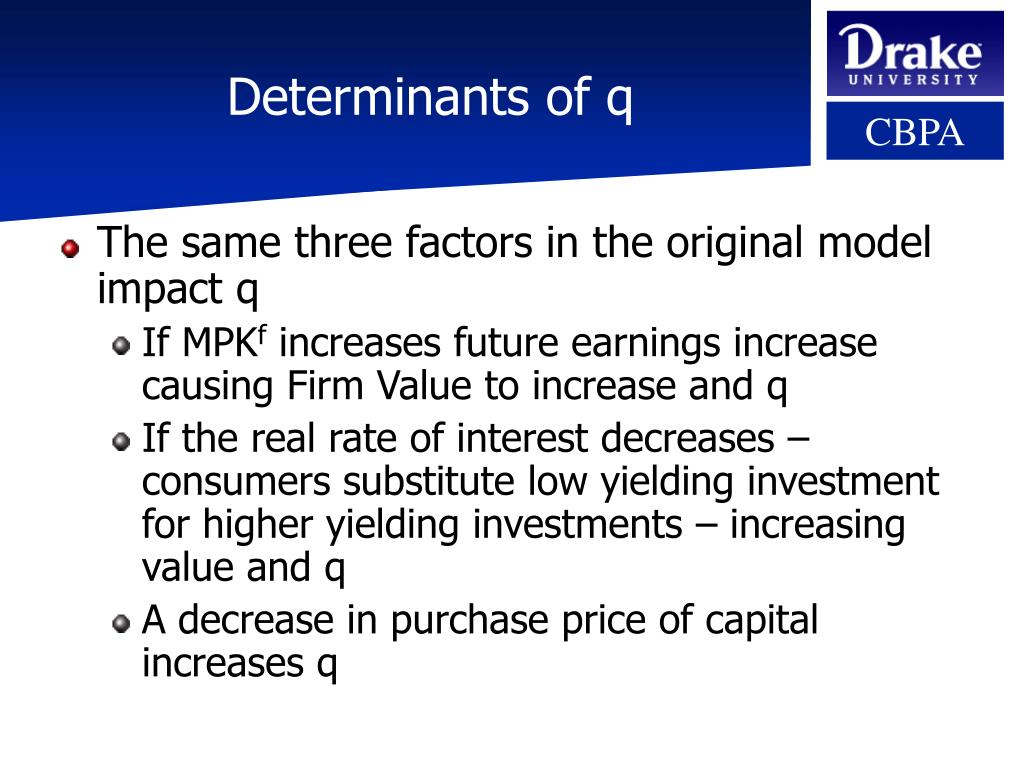 Determinants of q