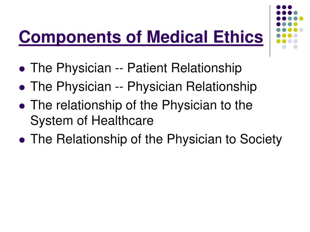 Components of Medical Ethics