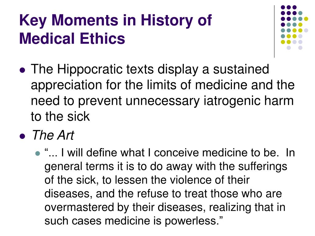Medical Ethics: an Inclusice History