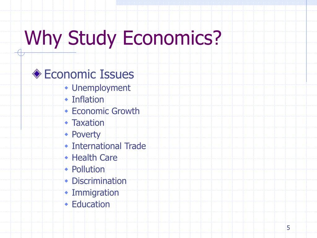 why study economics