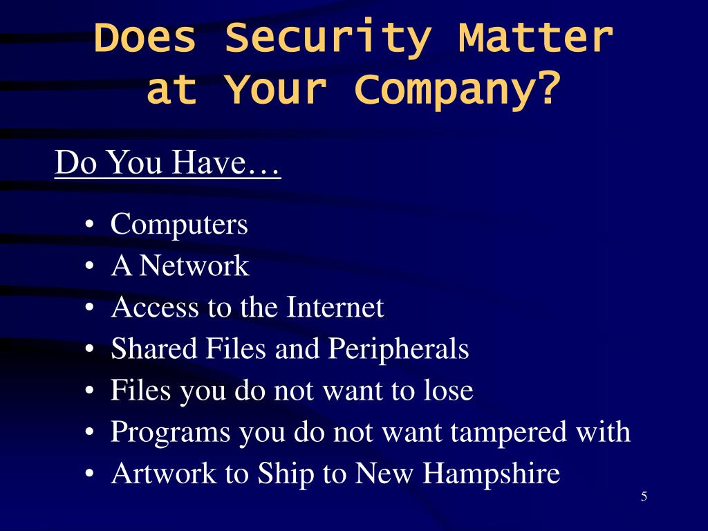 Does Security Matter at Your Company?