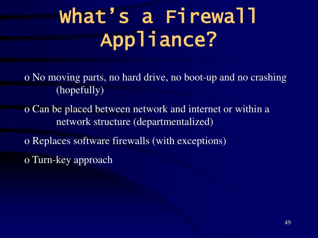 What's a Firewall Appliance?