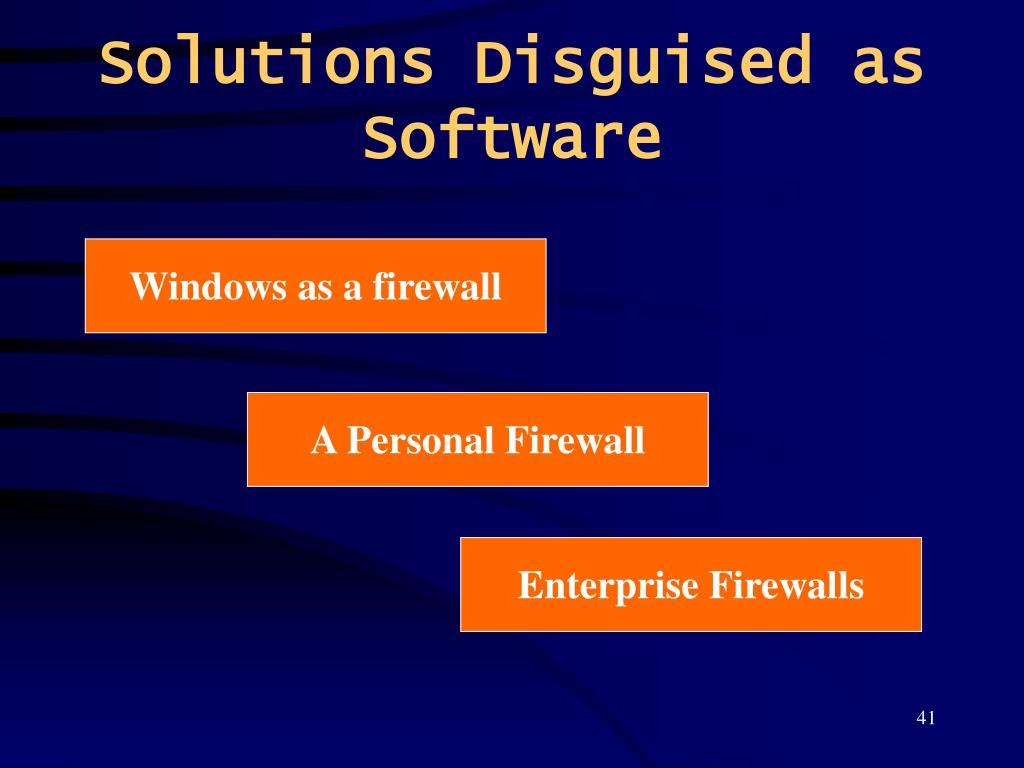 Solutions Disguised as Software