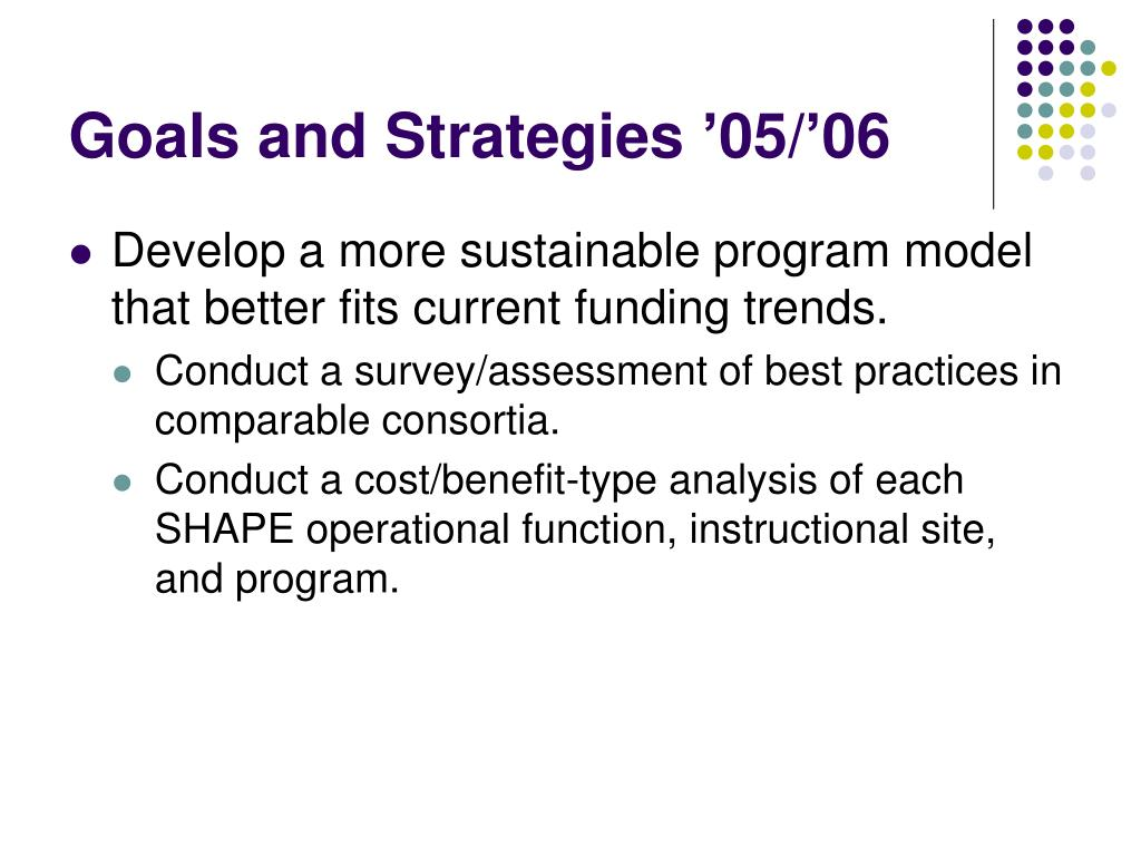 Goals and Strategies '05/'06