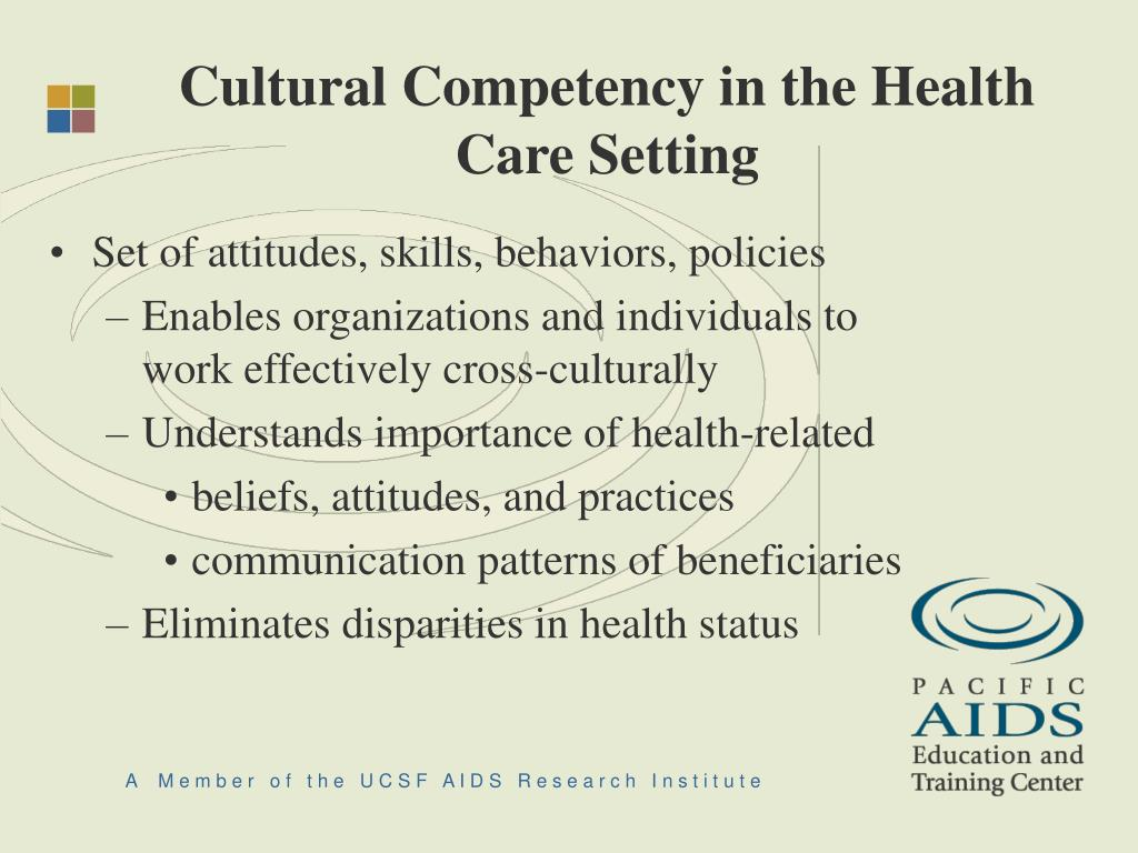 Cultural Competency in the Health Care Setting