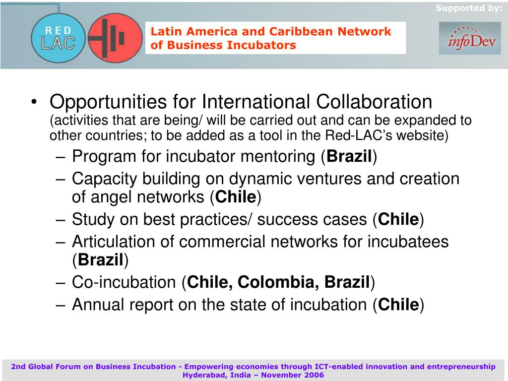 Opportunities for International Collaboration