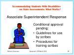 associate superintendent response