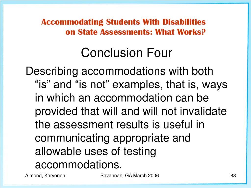 Conclusion Four
