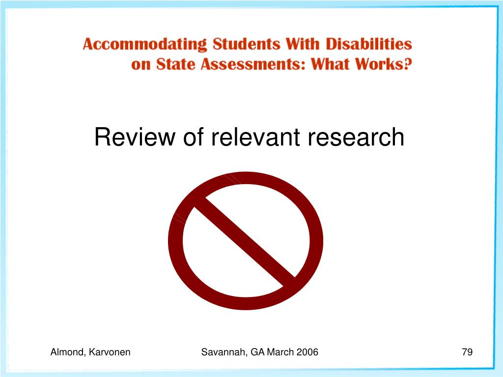 Review of relevant research
