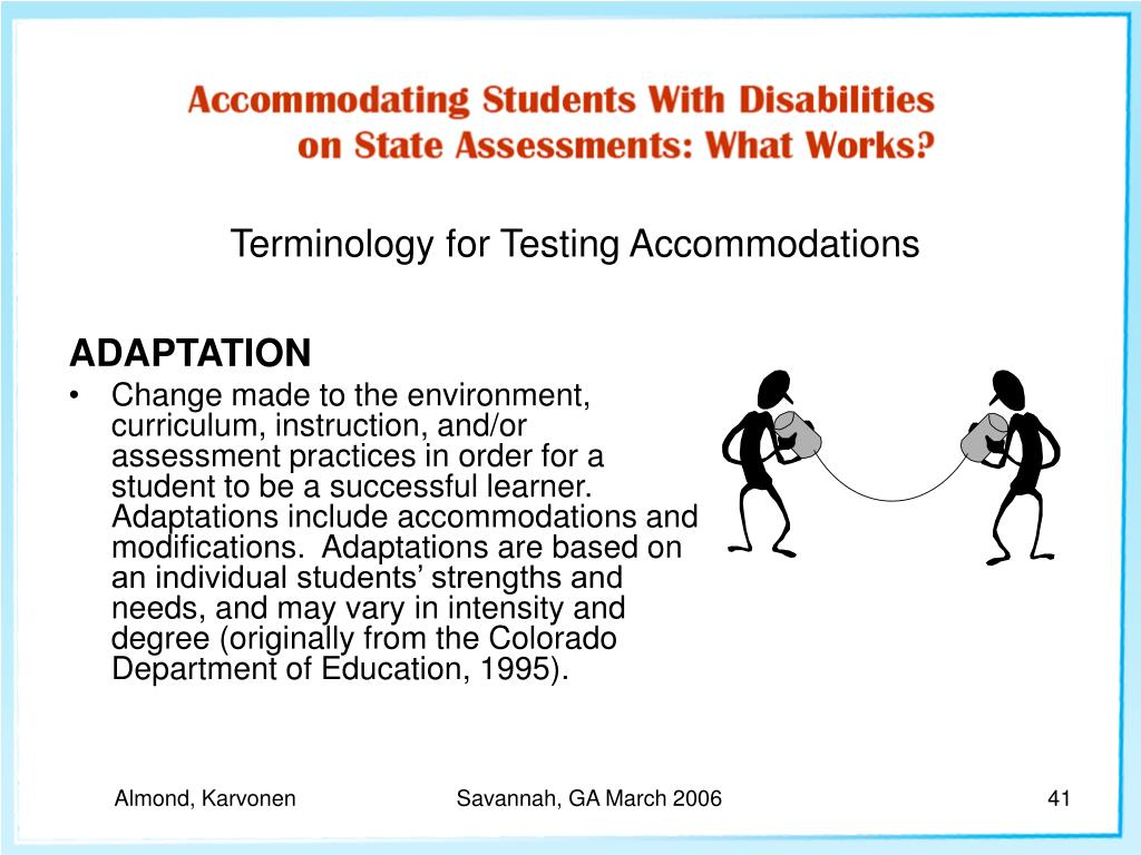 Terminology for Testing Accommodations