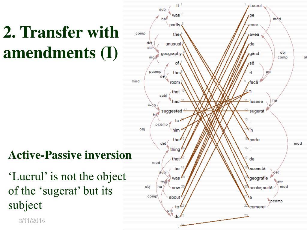 2. Transfer with amendments (I)
