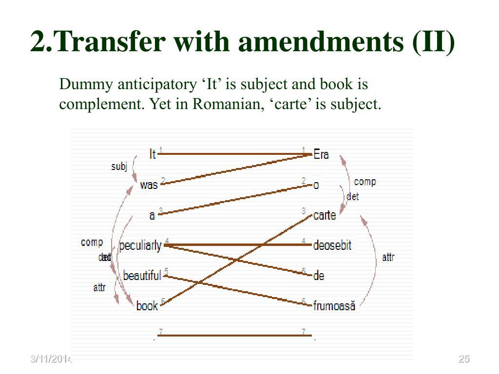 2.Transfer with amendments (II)