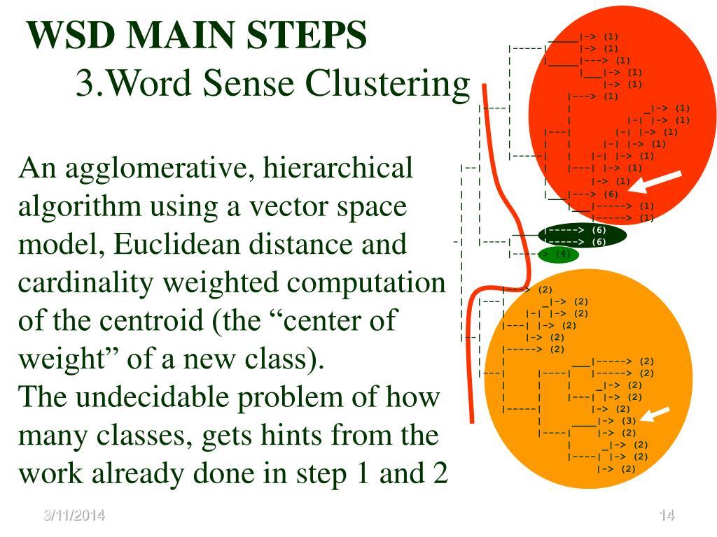 WSD MAIN STEPS
