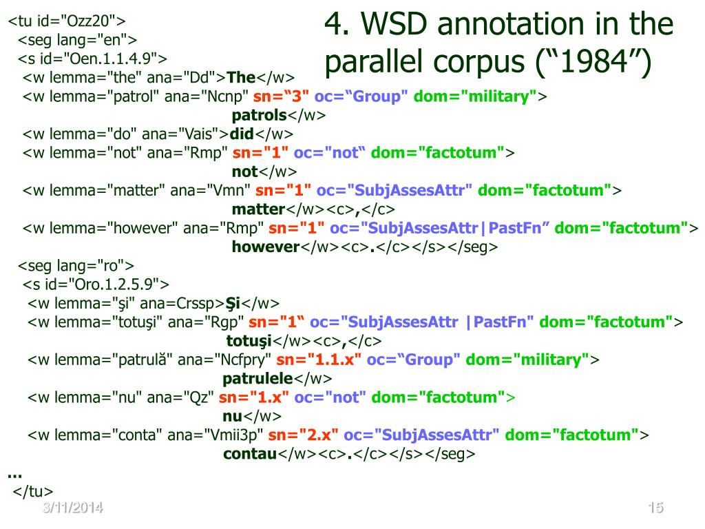 4. WSD annotation in the