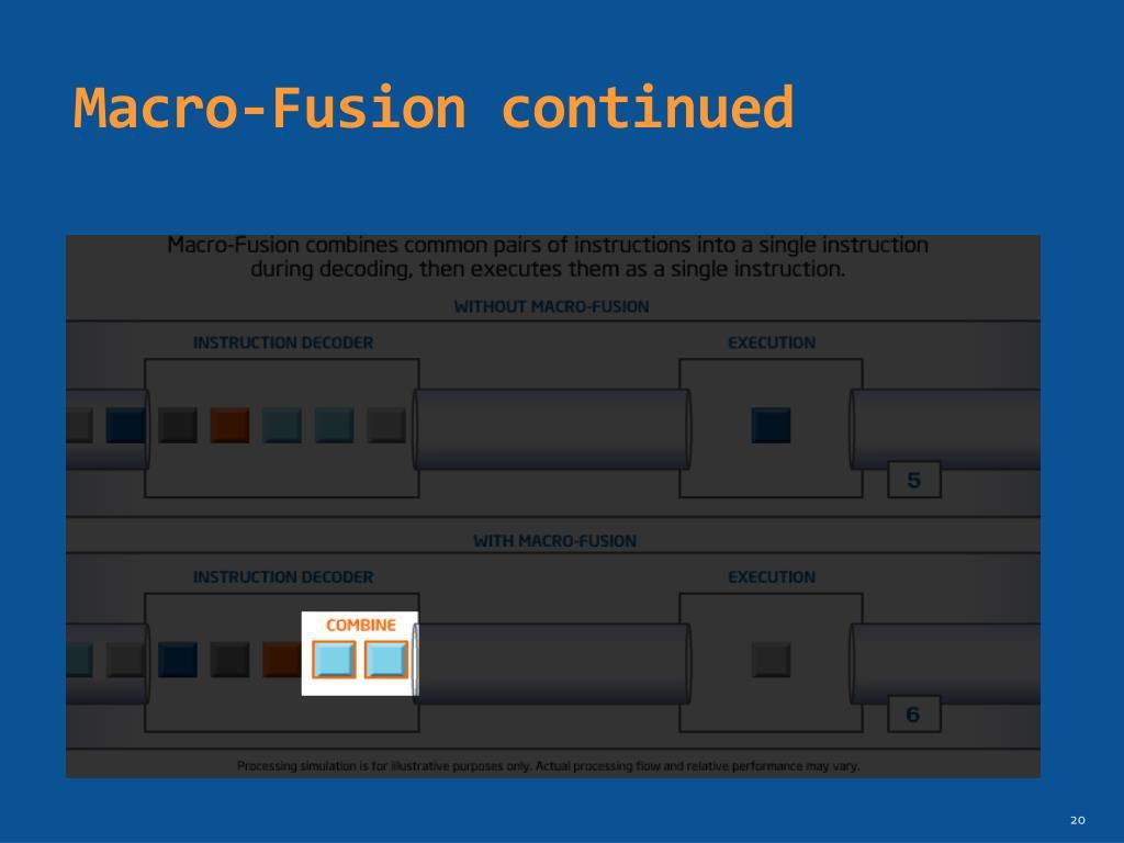 Macro-Fusion continued