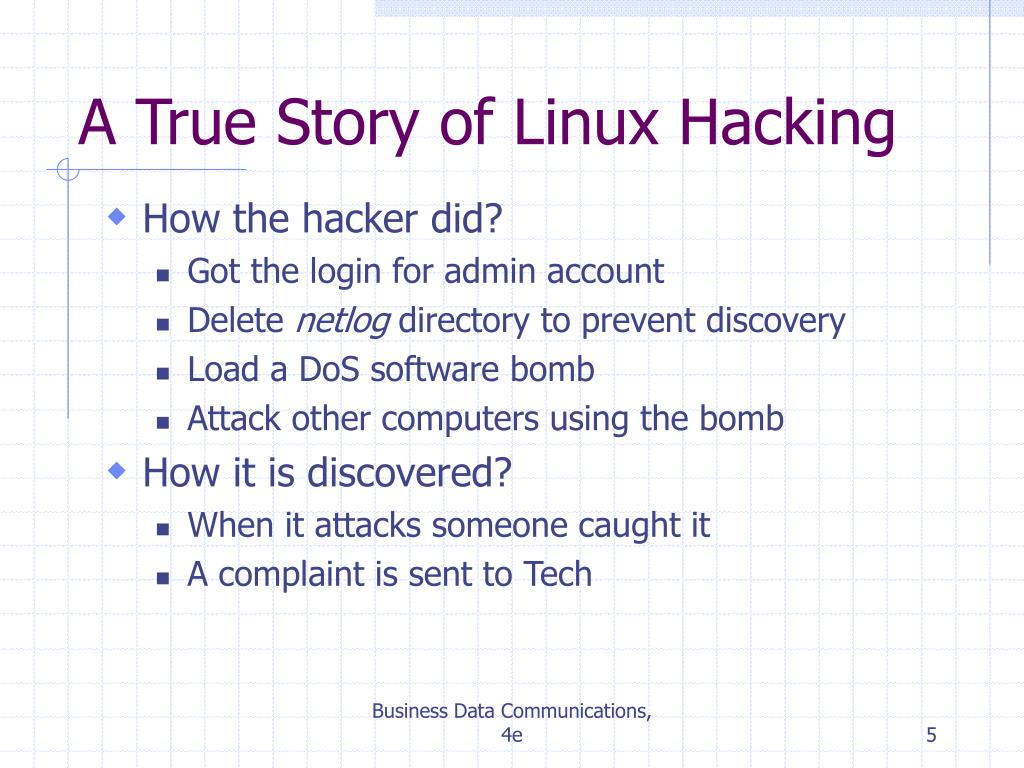 A True Story of Linux Hacking