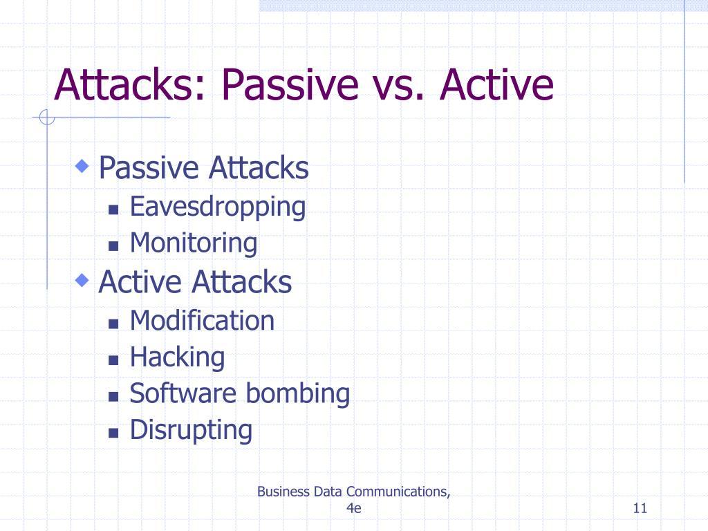 Attacks: Passive vs. Active