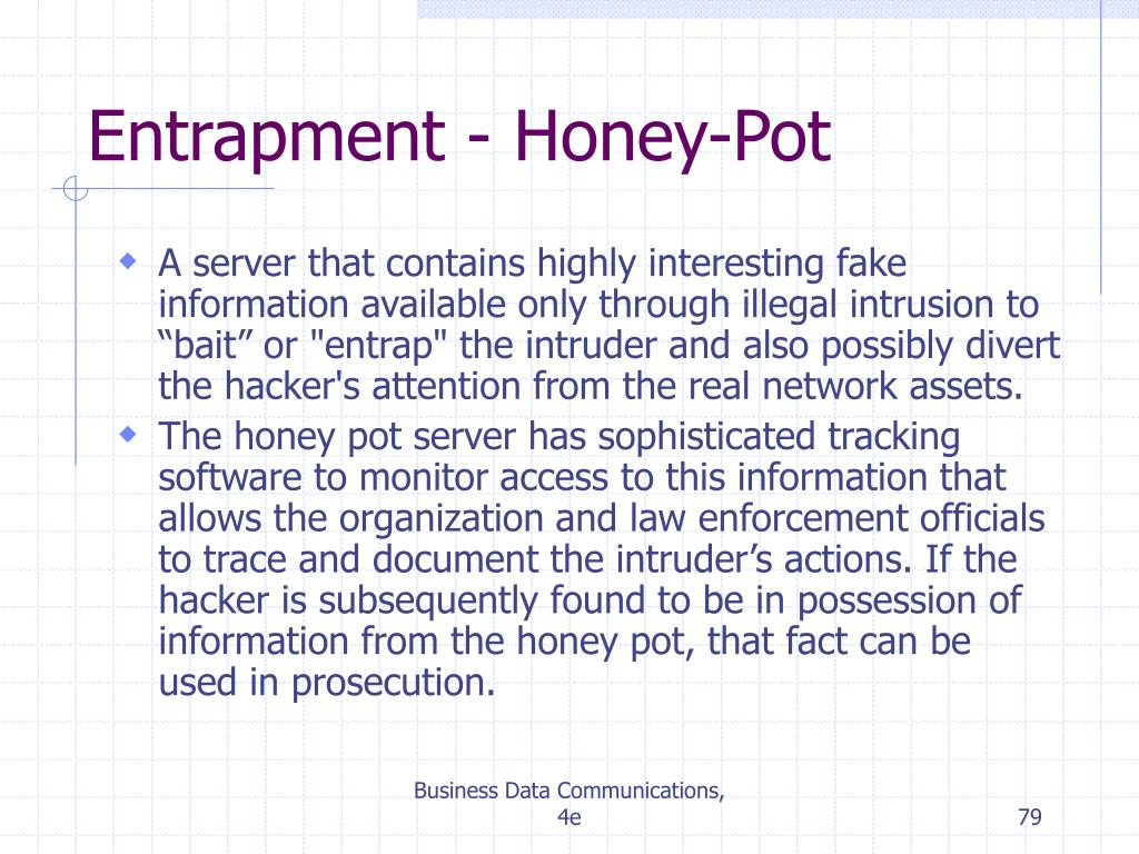 Entrapment - Honey-Pot