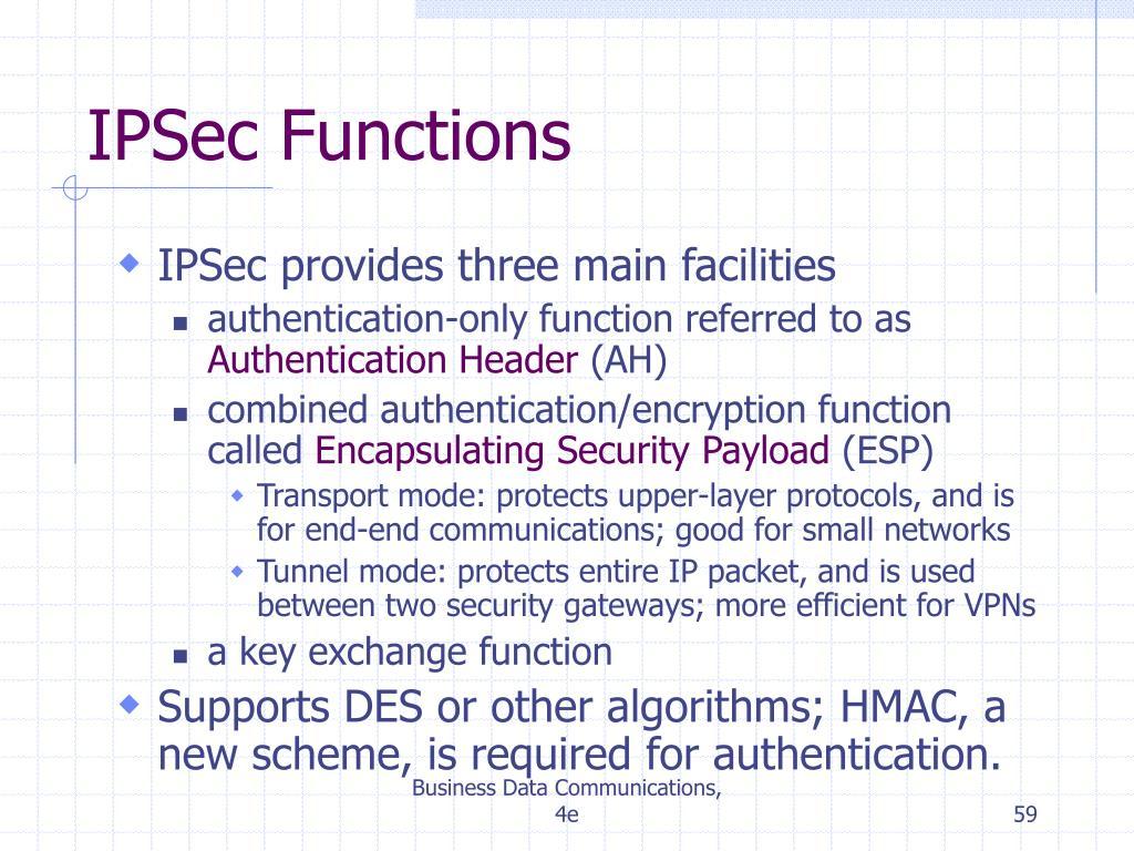 IPSec Functions