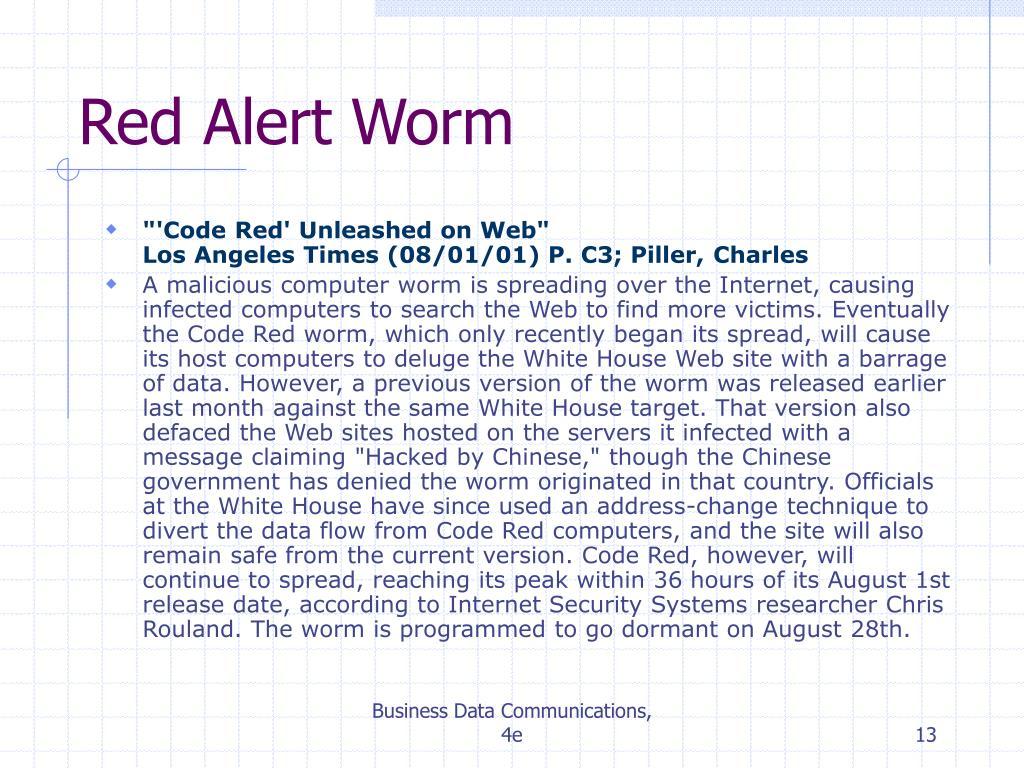 Red Alert Worm