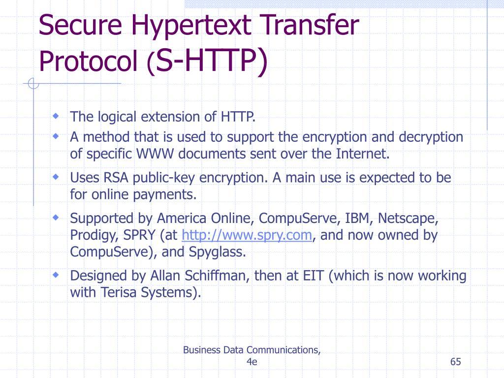 Secure Hypertext Transfer Protocol