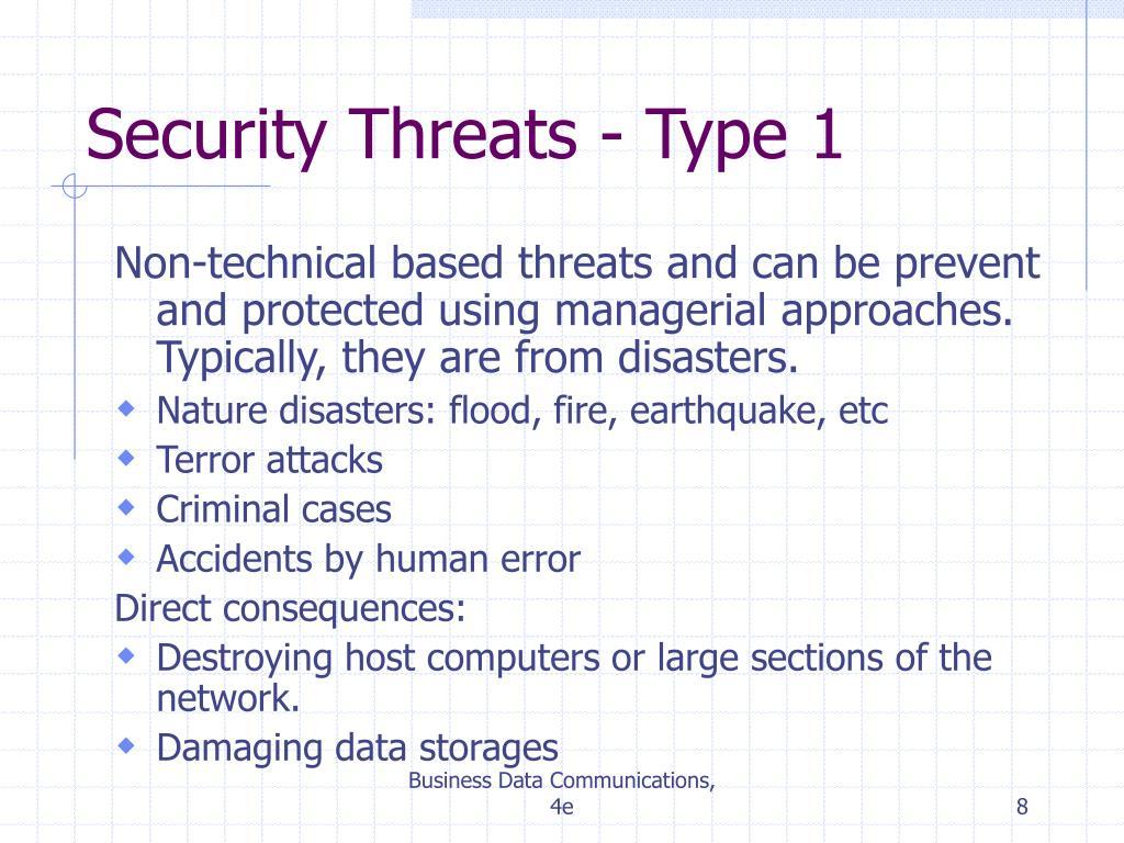 Security Threats - Type 1