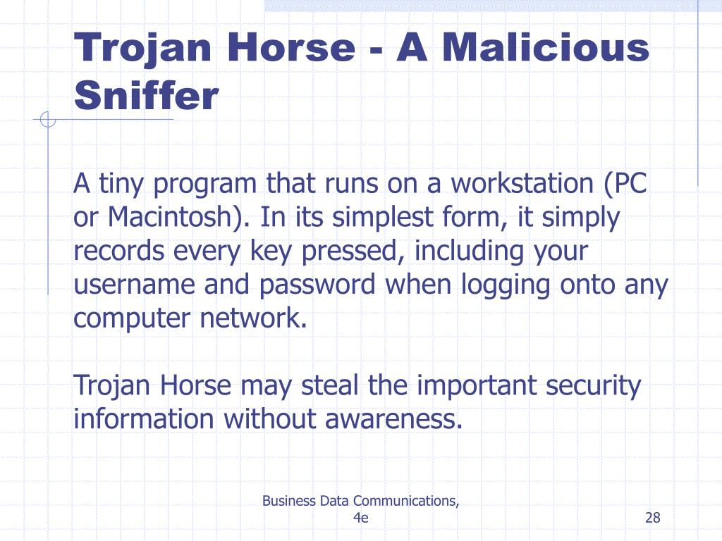 Trojan Horse - A Malicious Sniffer