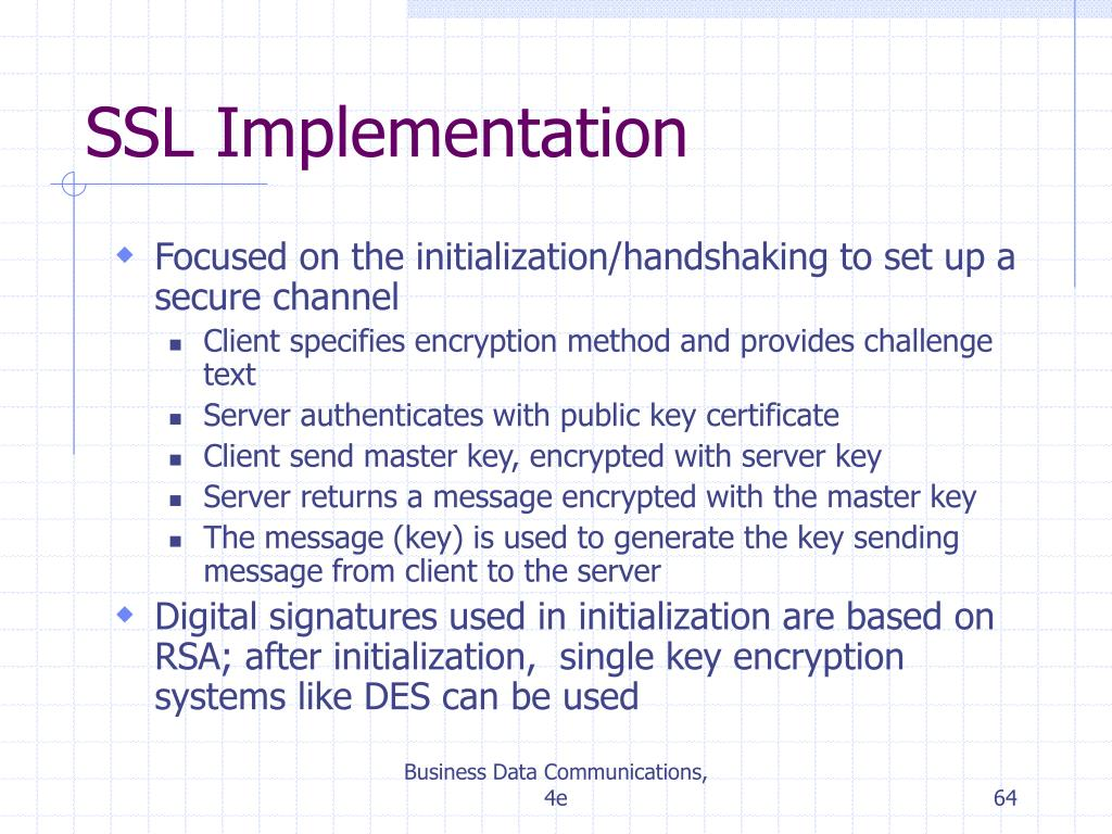 SSL Implementation