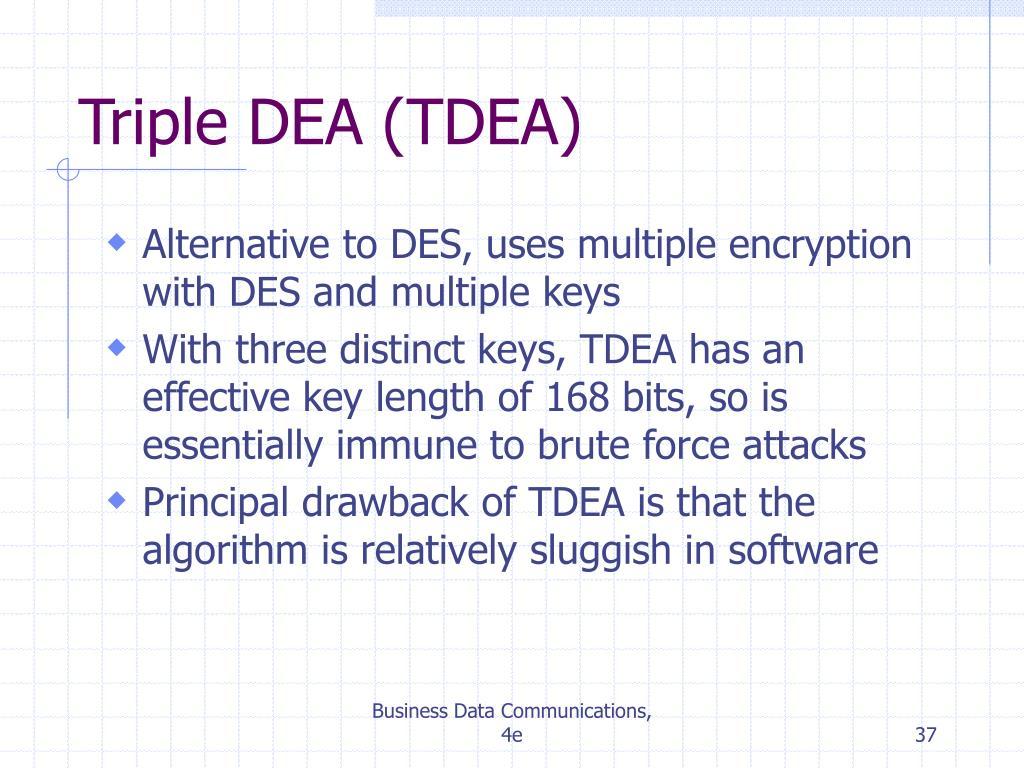 Triple DEA (TDEA)