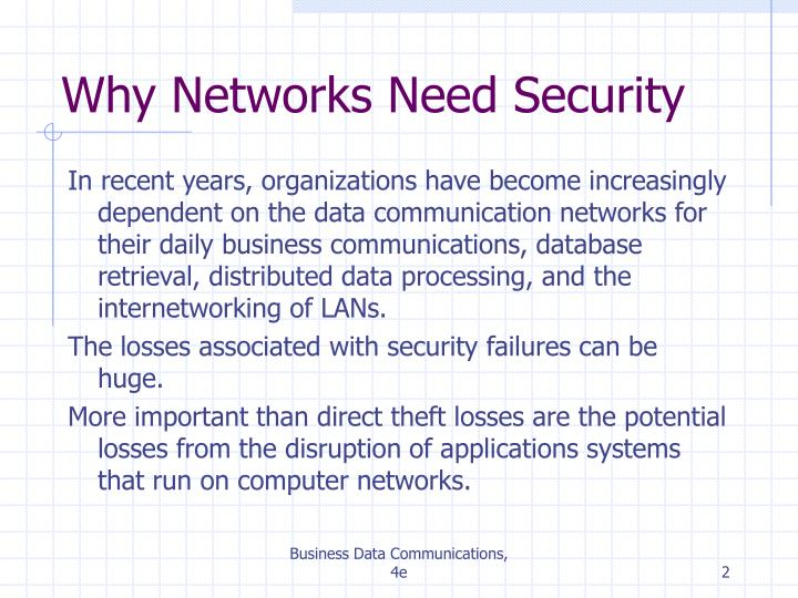 Why networks need security