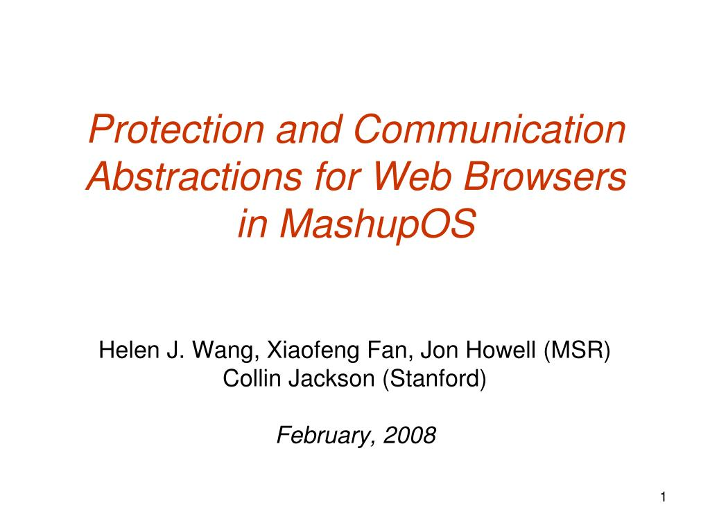 Protection and Communication Abstractions for Web Browsers