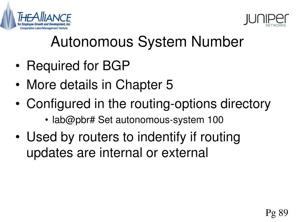 Autonomous System Number