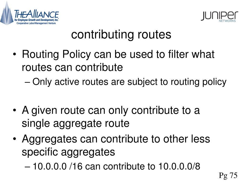contributing routes