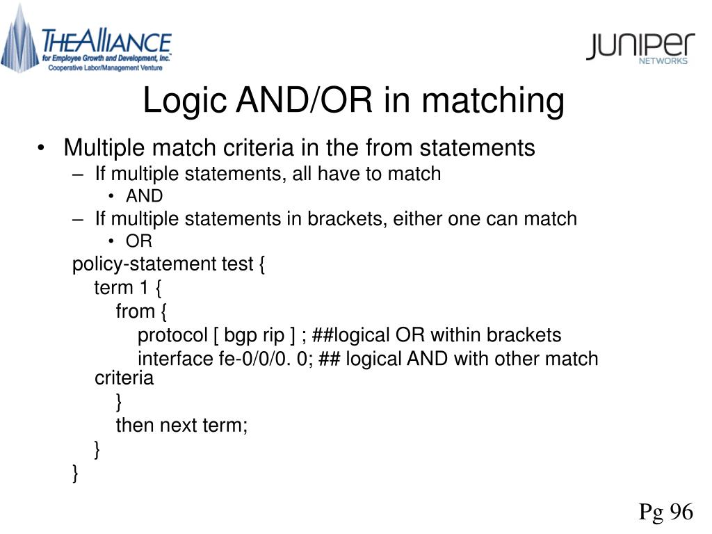 Logic AND/OR in matching