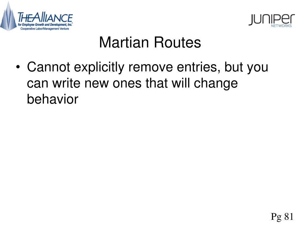 Martian Routes